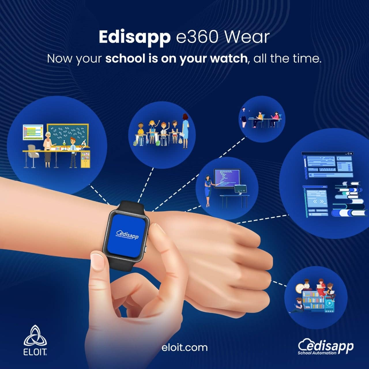 Edisapp e360 Principal Mobile App integrated with the Best School Management System