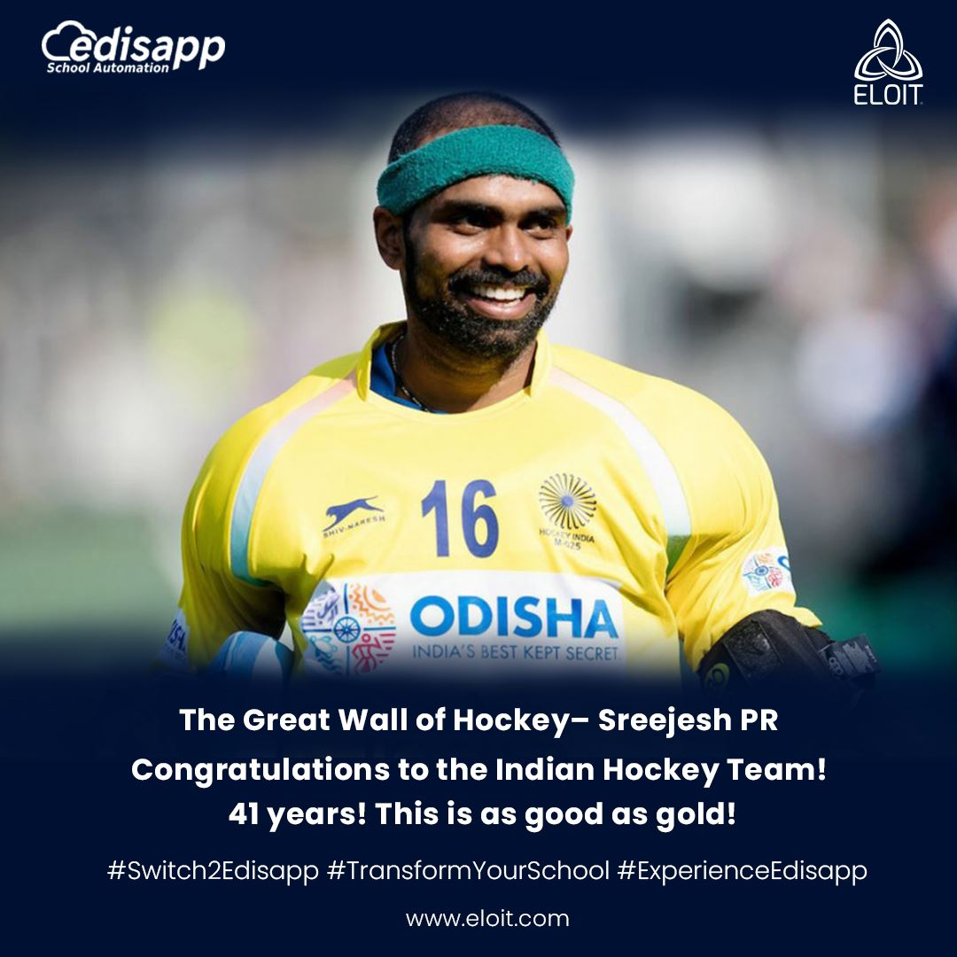 Congratulations to the Great Wall of Indian Hockey – Sreejesh PR